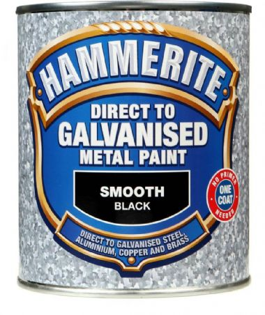 Hammerite Direct To Galvanised Metal Paint 750ml - Black